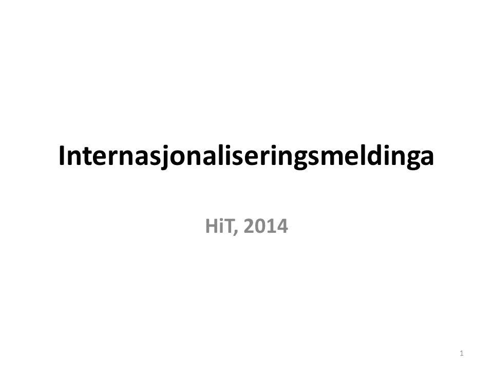 Internasjonaliseringsmeldinga