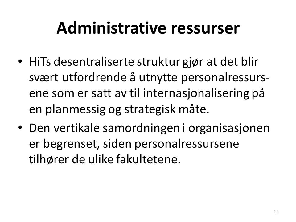 Administrative ressurser