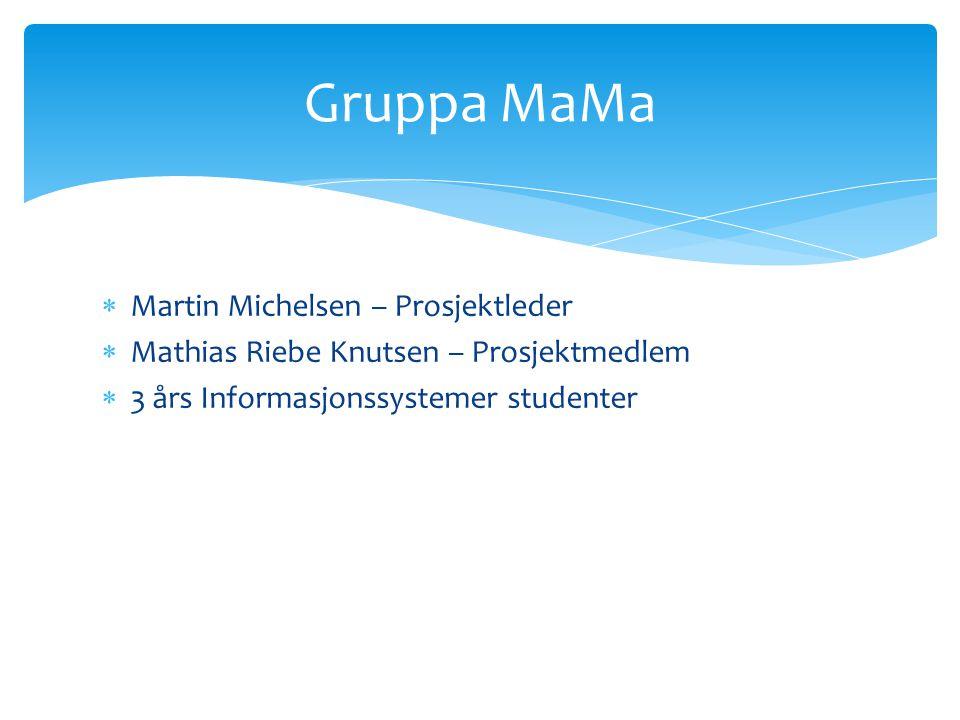 Gruppa MaMa Martin Michelsen – Prosjektleder