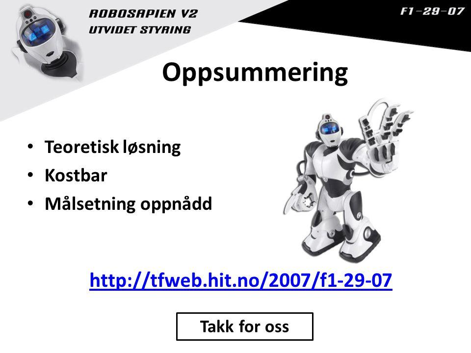 Oppsummering http://tfweb.hit.no/2007/f1-29-07 Teoretisk løsning