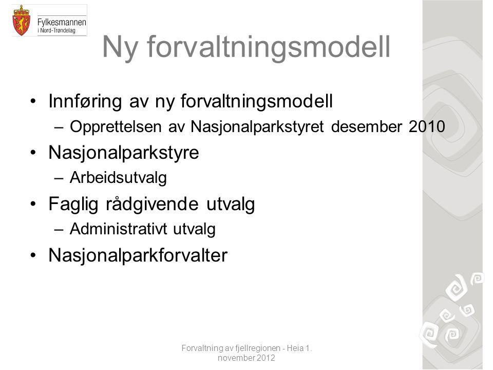 Ny forvaltningsmodell