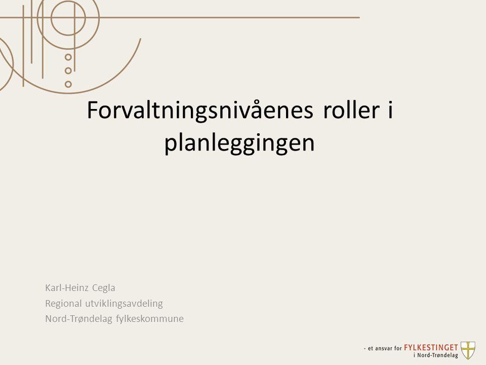 Forvaltningsnivåenes roller i planleggingen