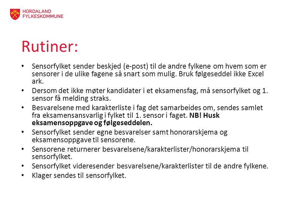 Rutiner: