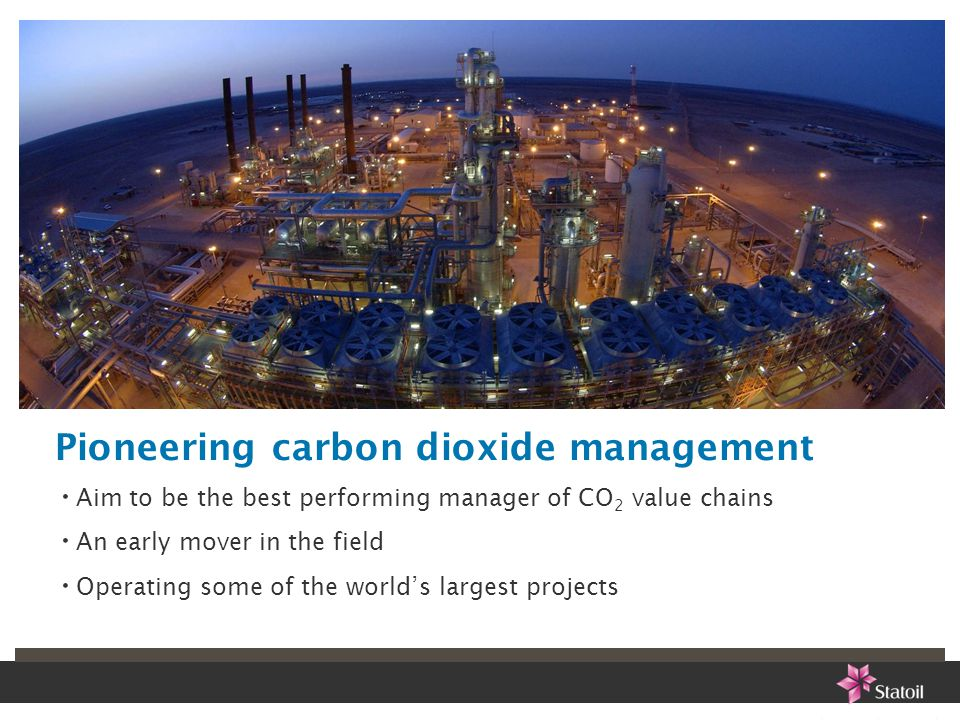 Pioneering carbon dioxide management