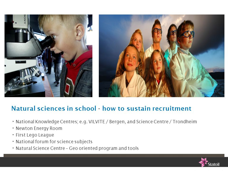 Natural sciences in school - how to sustain recruitment