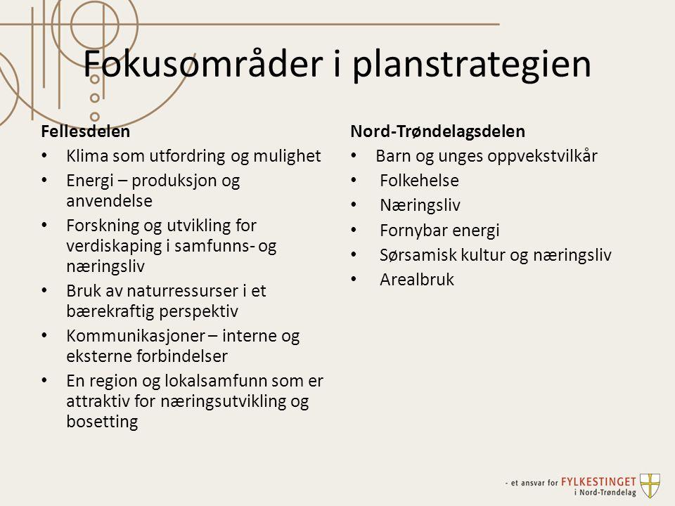 Fokusområder i planstrategien
