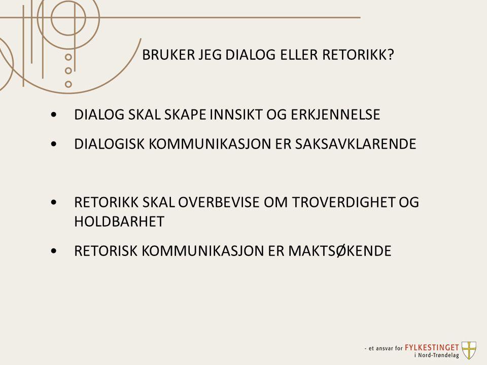 BRUKER JEG DIALOG ELLER RETORIKK