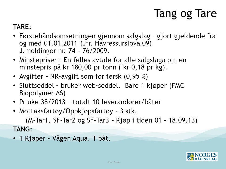 Tang og Tare TARE: