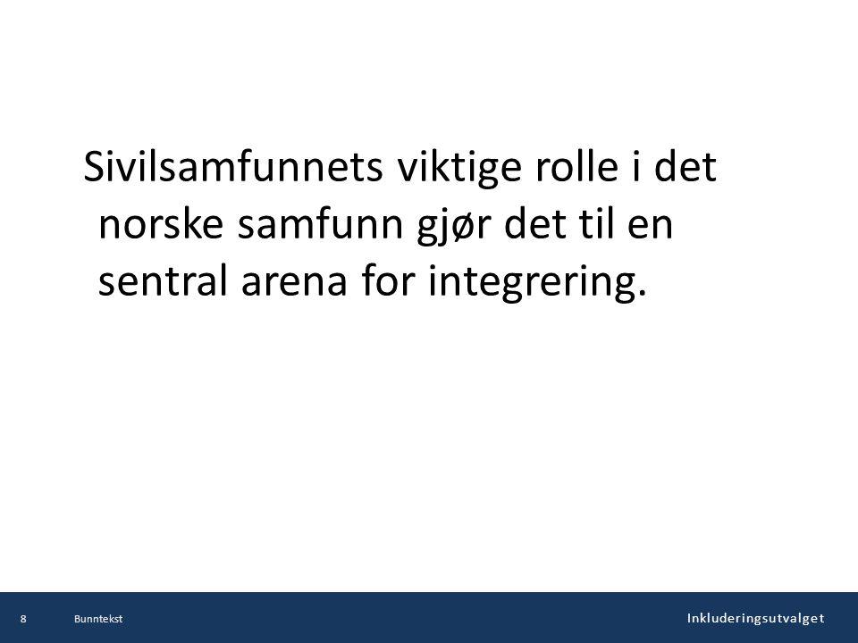 Sivilsamfunnets viktige rolle i det norske samfunn gjør det til en sentral arena for integrering.
