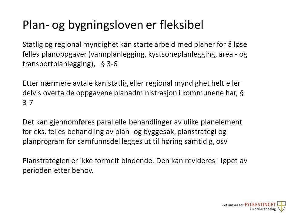 Plan- og bygningsloven er fleksibel