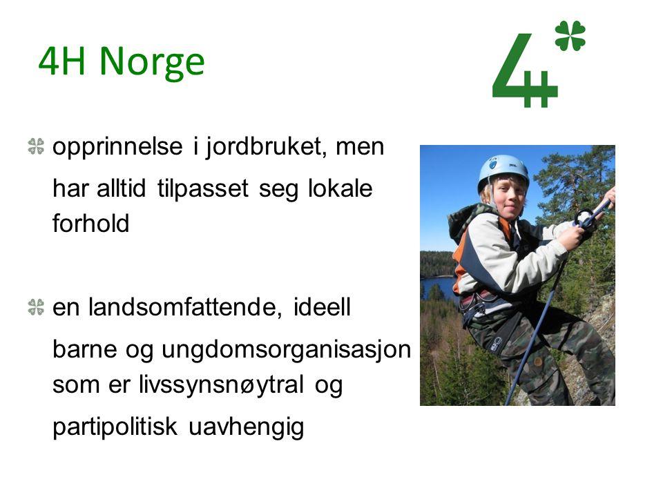4H Norge opprinnelse i jordbruket, men