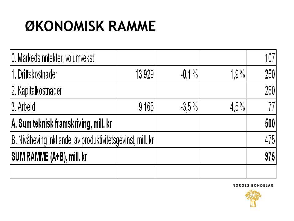 ØKONOMISK RAMME