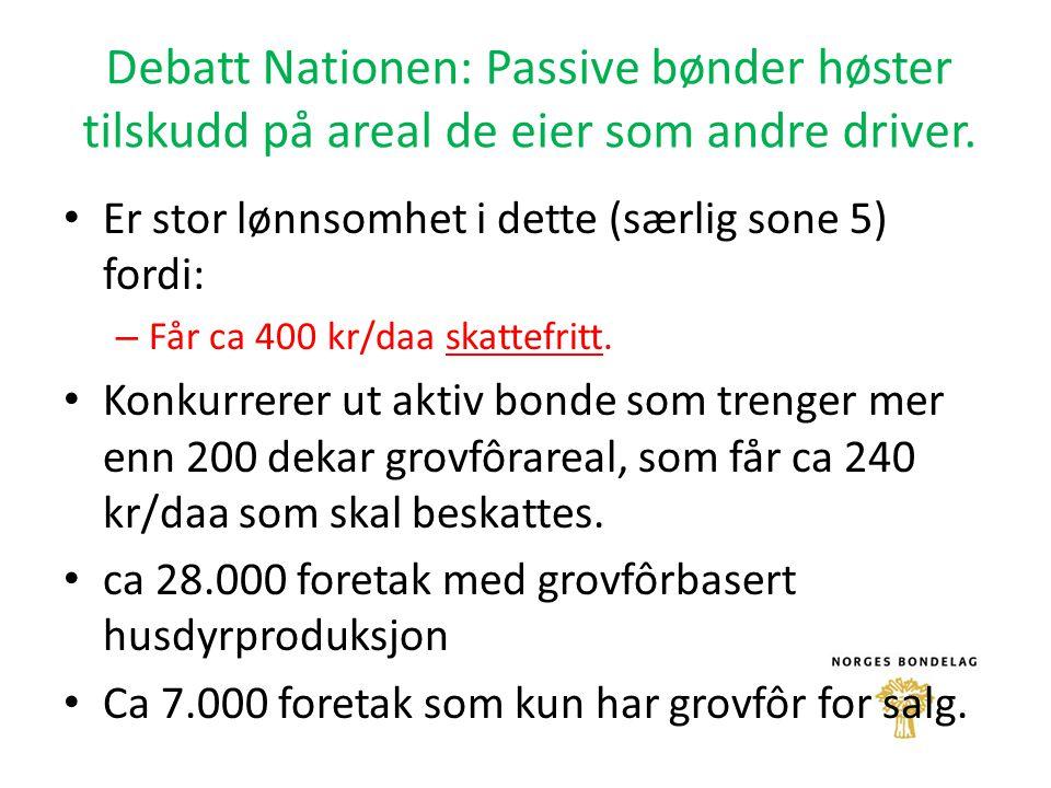 Debatt Nationen: Passive bønder høster tilskudd på areal de eier som andre driver.