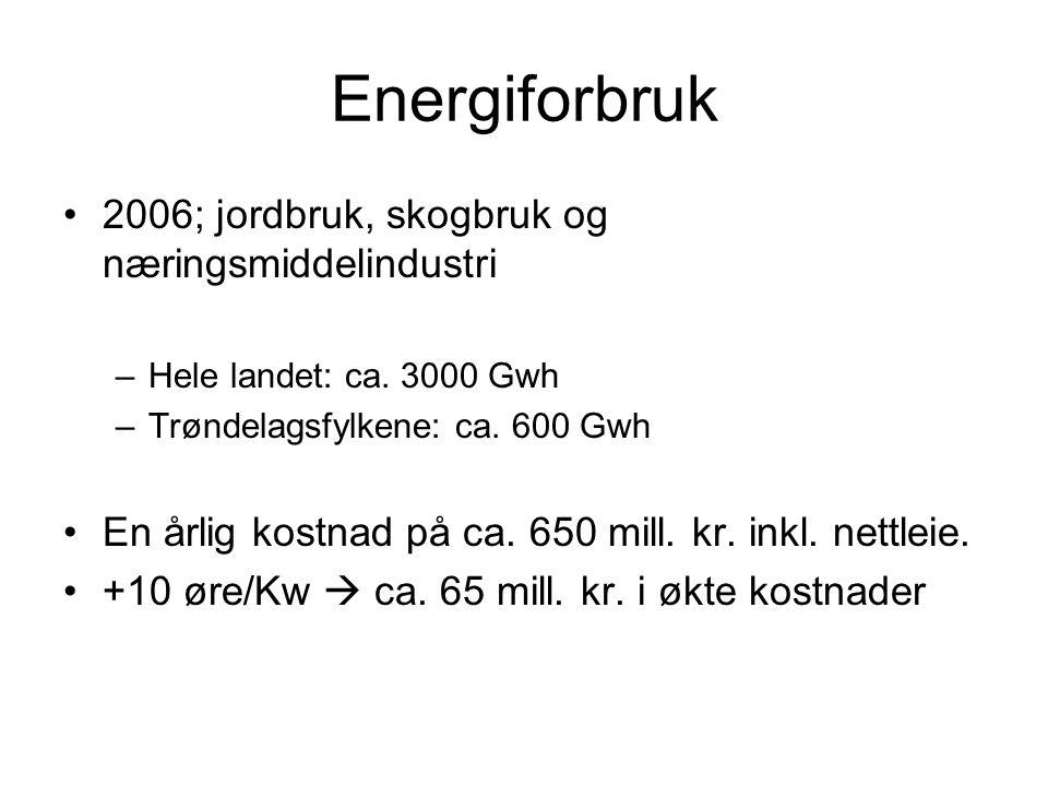 Energiforbruk 2006; jordbruk, skogbruk og næringsmiddelindustri