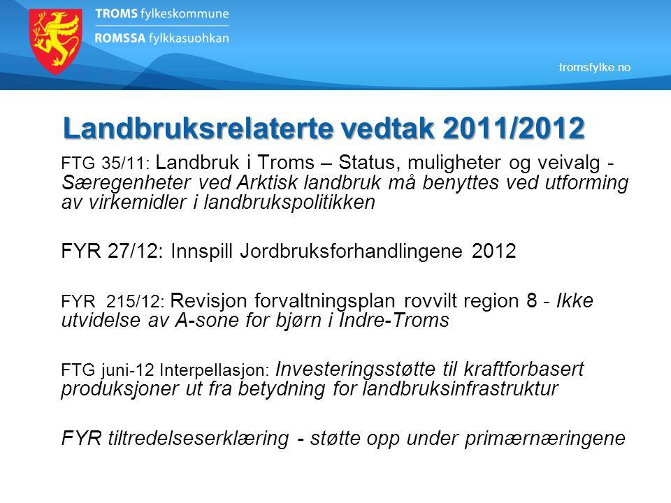 Landbruksrelaterte vedtak 2011/2012