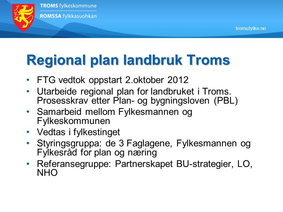 Regional plan landbruk Troms