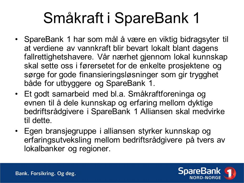 Småkraft i SpareBank 1