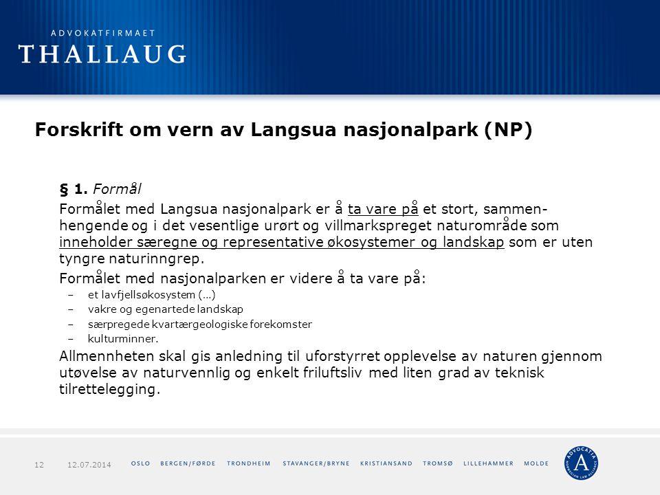 Forskrift om vern av Langsua nasjonalpark (NP)