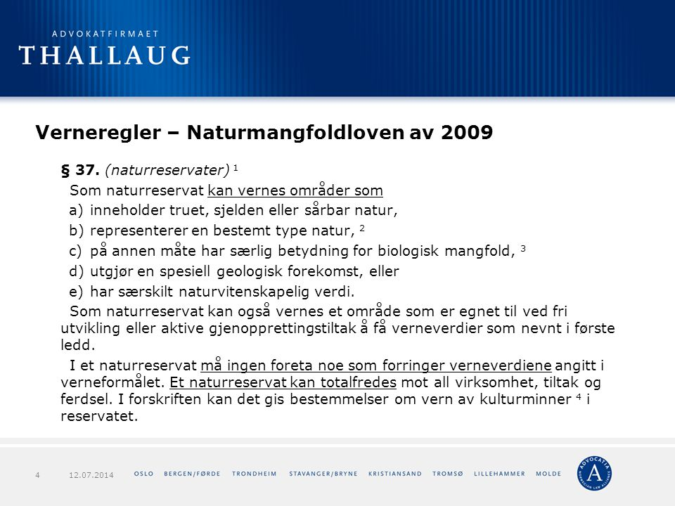 Verneregler – Naturmangfoldloven av 2009