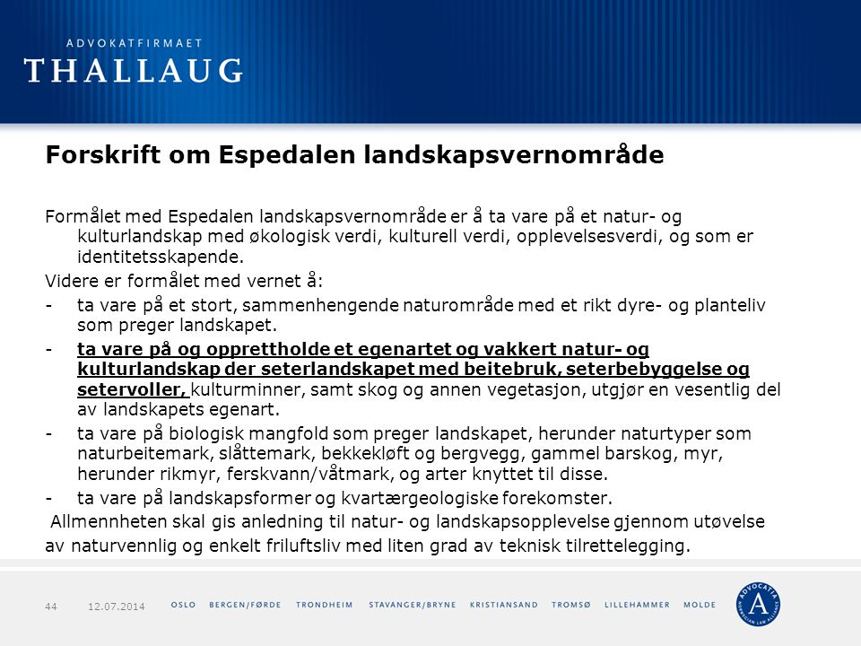 Forskrift om Espedalen landskapsvernområde