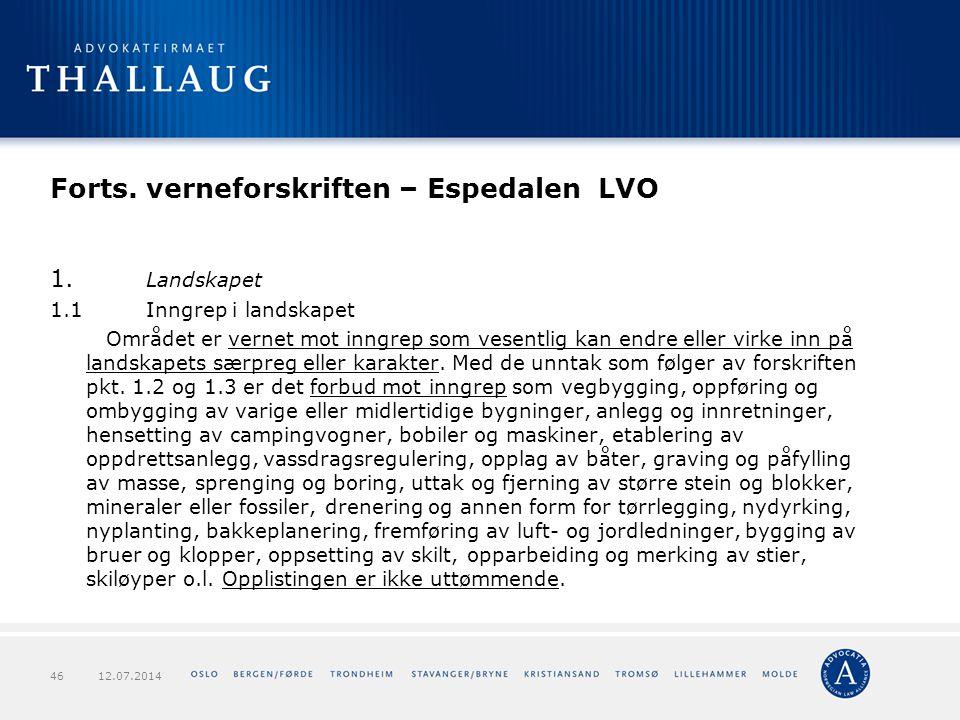 Forts. verneforskriften – Espedalen LVO