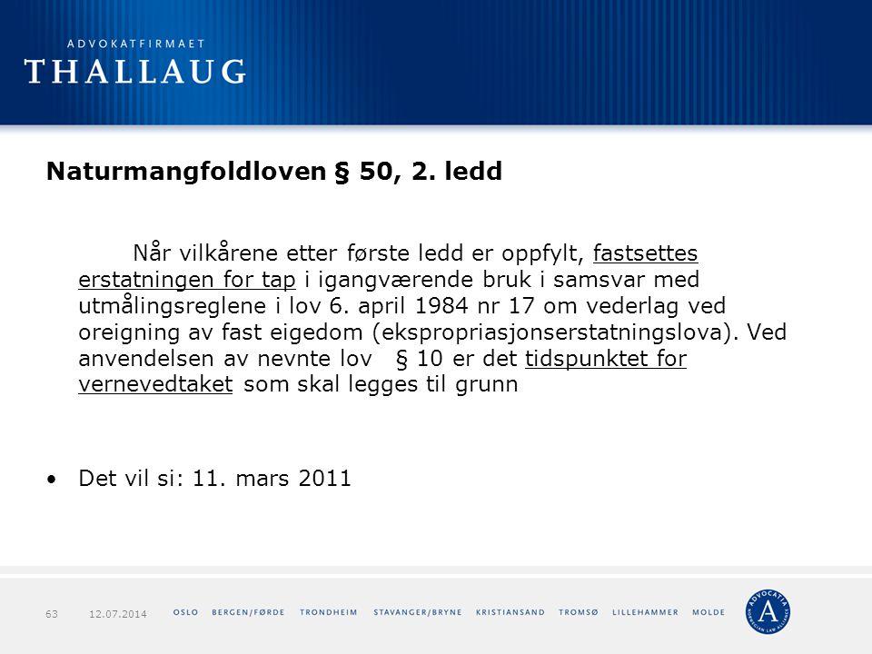 Naturmangfoldloven § 50, 2. ledd