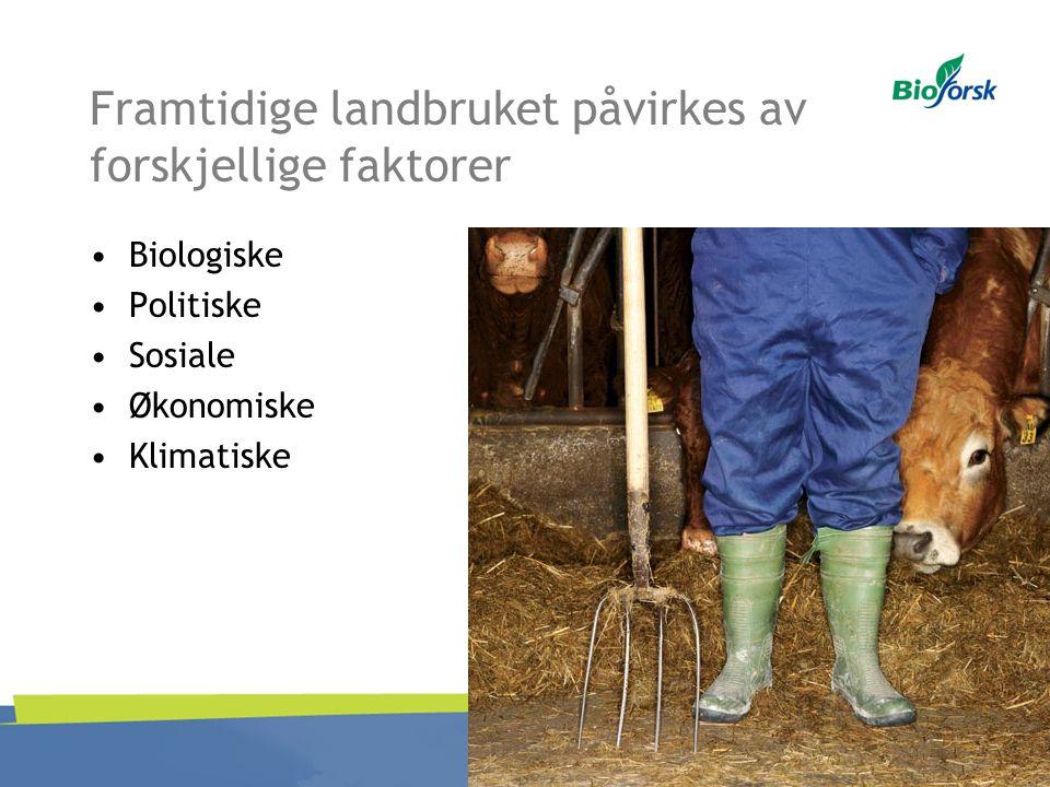 Framtidige landbruket påvirkes av forskjellige faktorer