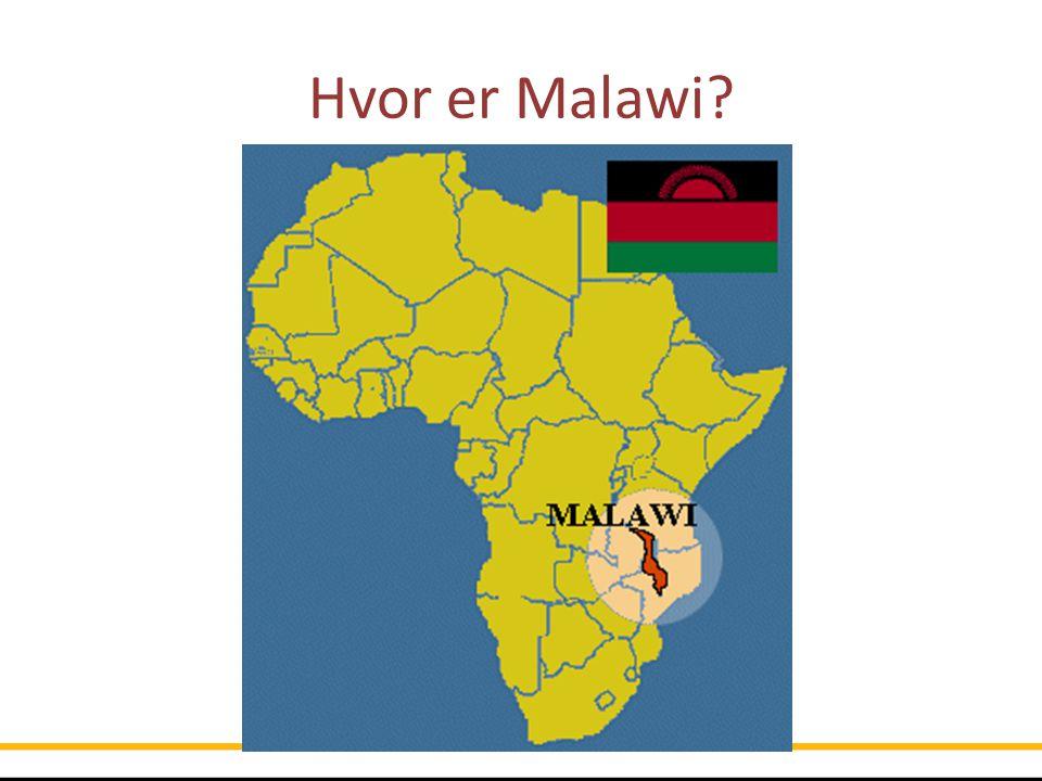 Hvor er Malawi Malawi ligger sør for ekvator, i innlandet Sørøstafrika, på vest og sørsiden av Malawisjøen .