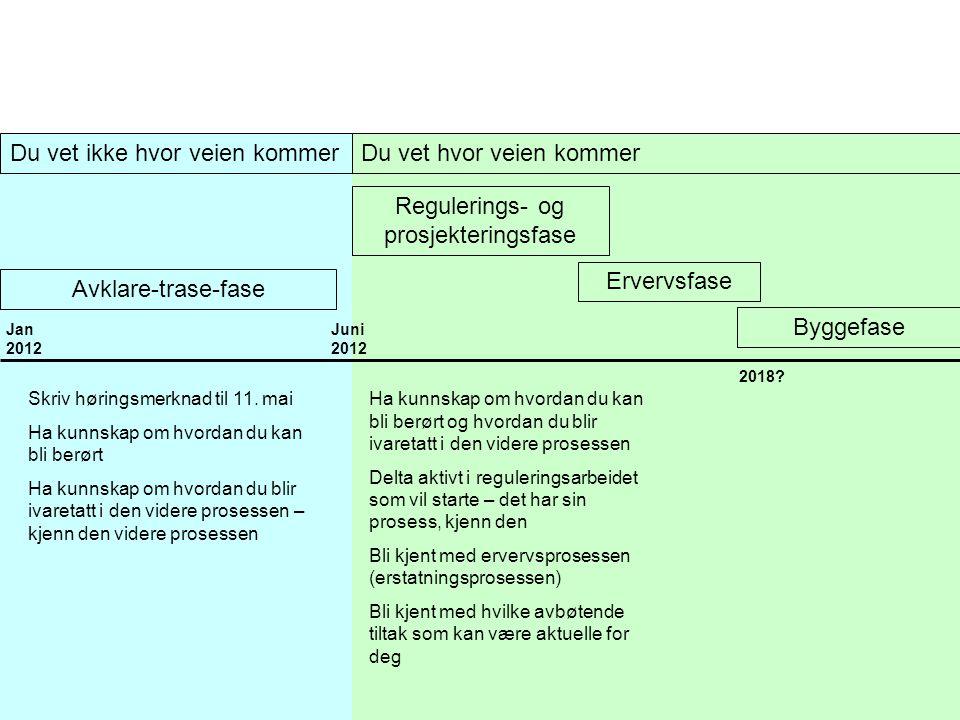 Regulerings- og prosjekteringsfase