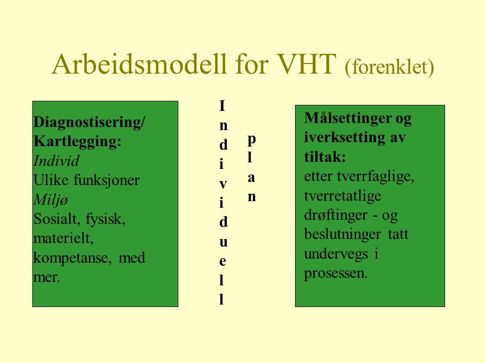 Arbeidsmodell for VHT (forenklet)
