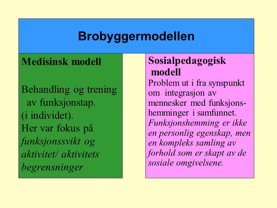 Brobyggermodellen Medisinsk modell Behandling og trening
