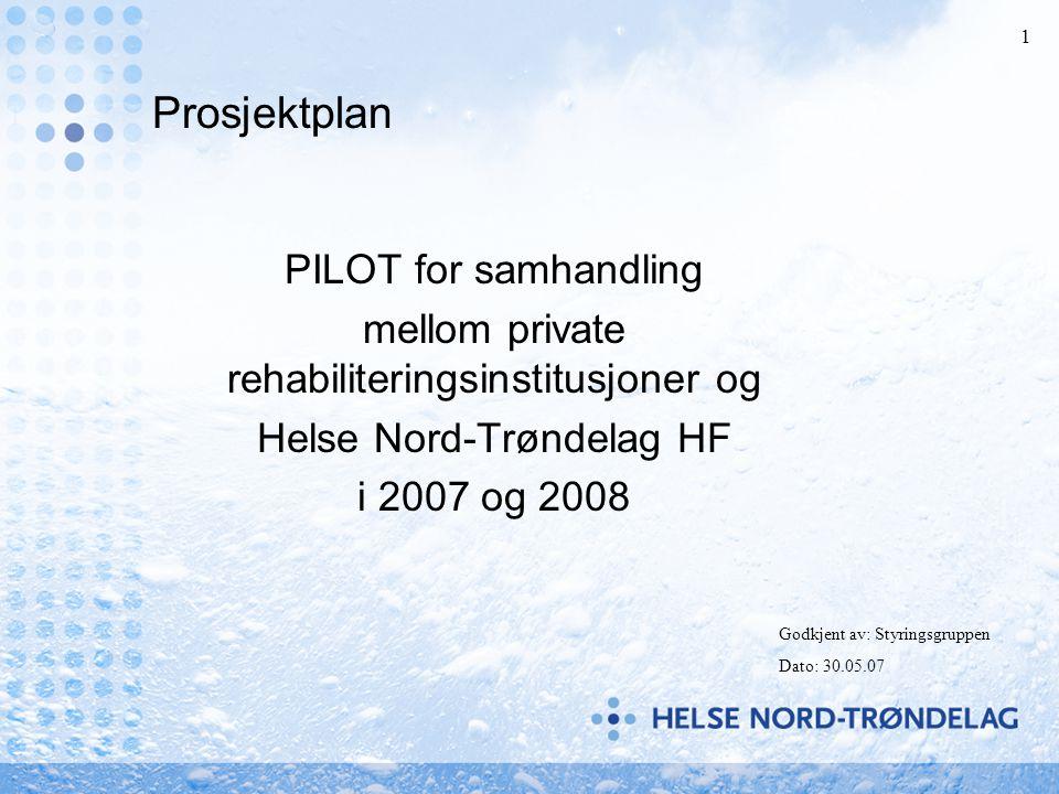 Prosjektplan PILOT for samhandling