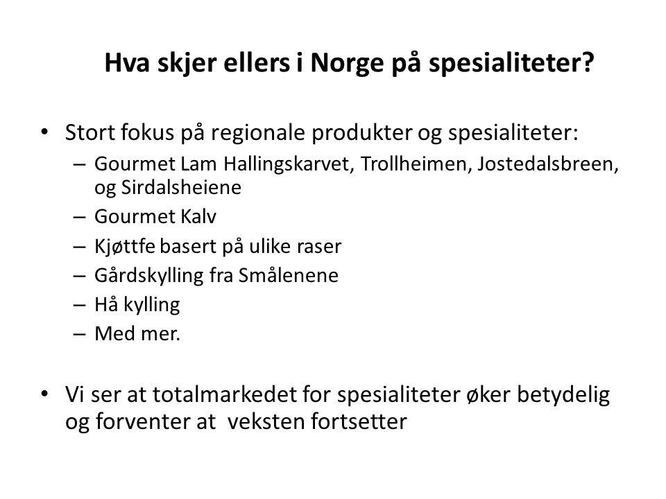 Hva skjer ellers i Norge på spesialiteter