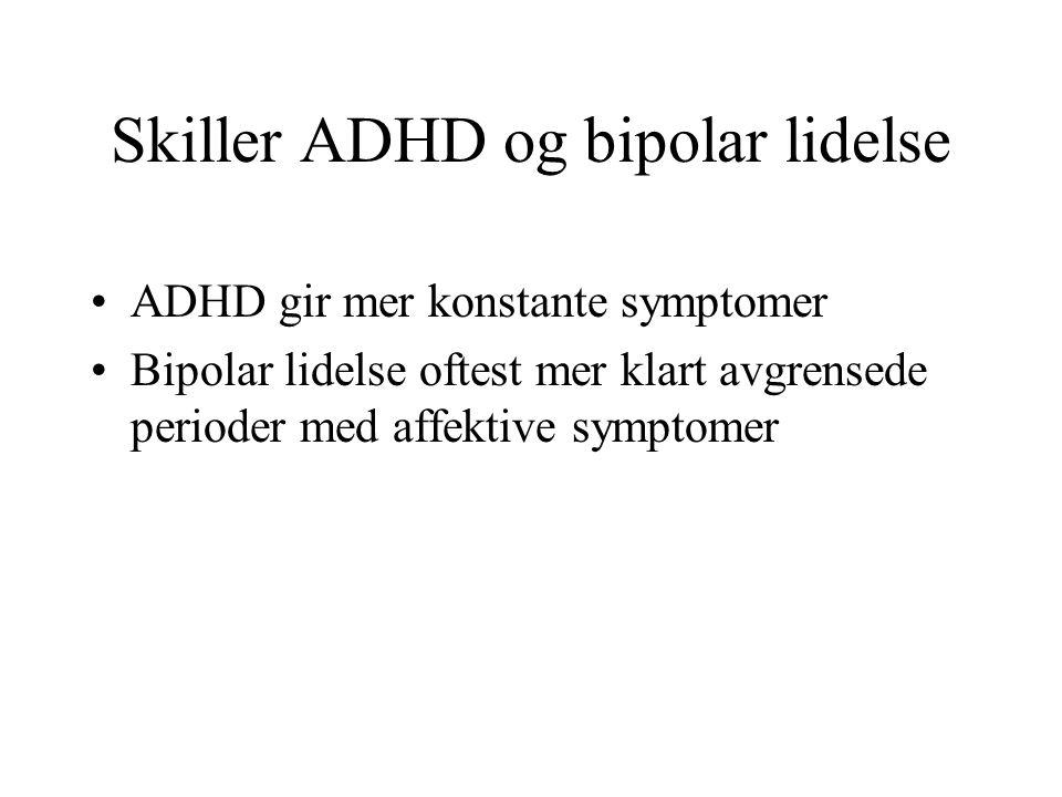 Skiller ADHD og bipolar lidelse