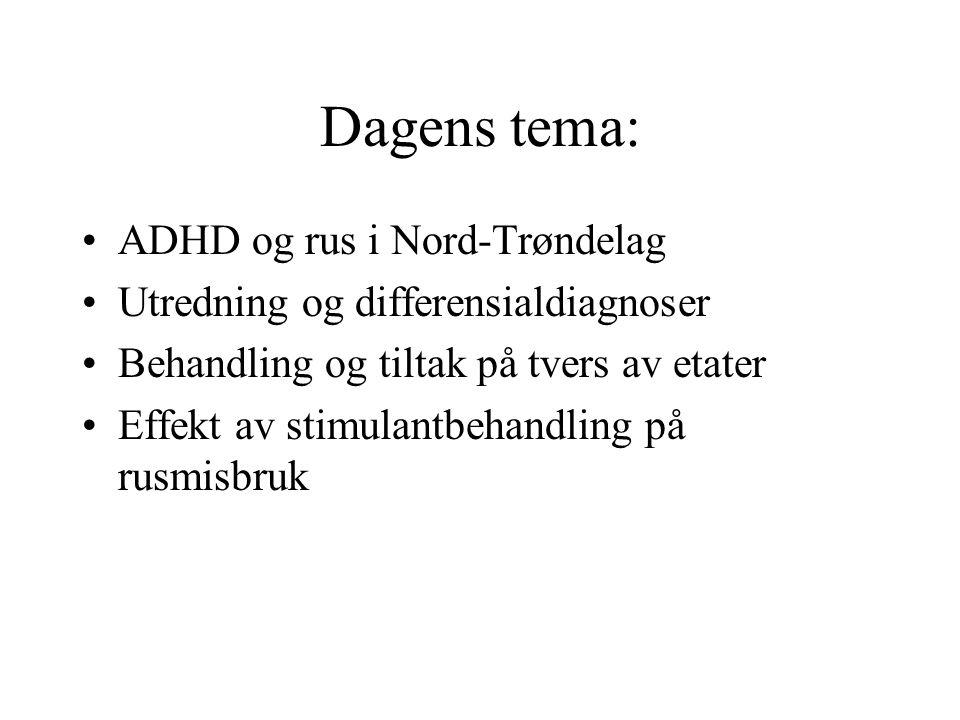 Dagens tema: ADHD og rus i Nord-Trøndelag
