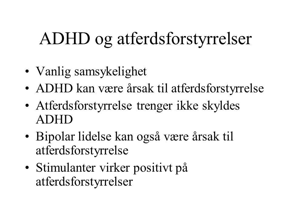 ADHD og atferdsforstyrrelser