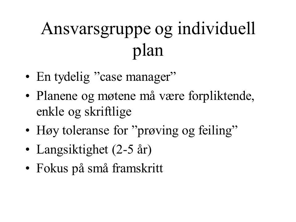 Ansvarsgruppe og individuell plan
