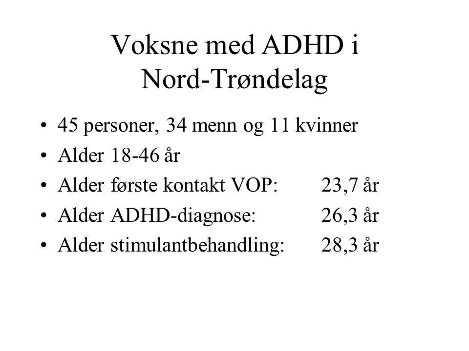 Voksne med ADHD i Nord-Trøndelag