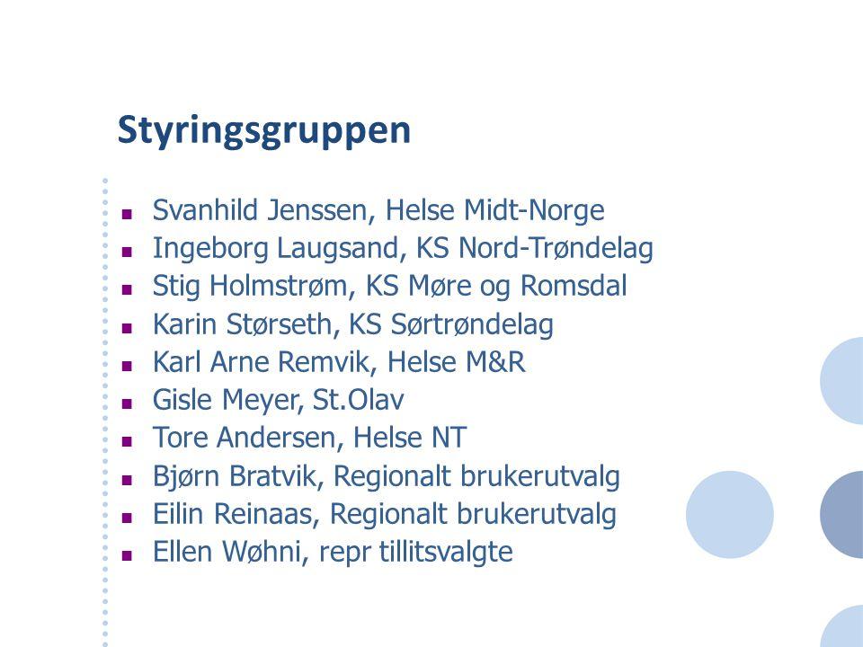 Styringsgruppen Svanhild Jenssen, Helse Midt-Norge
