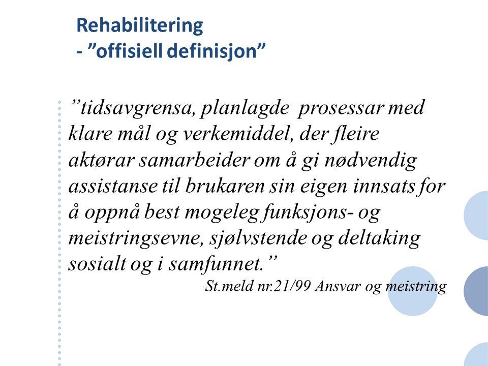 Rehabilitering - offisiell definisjon
