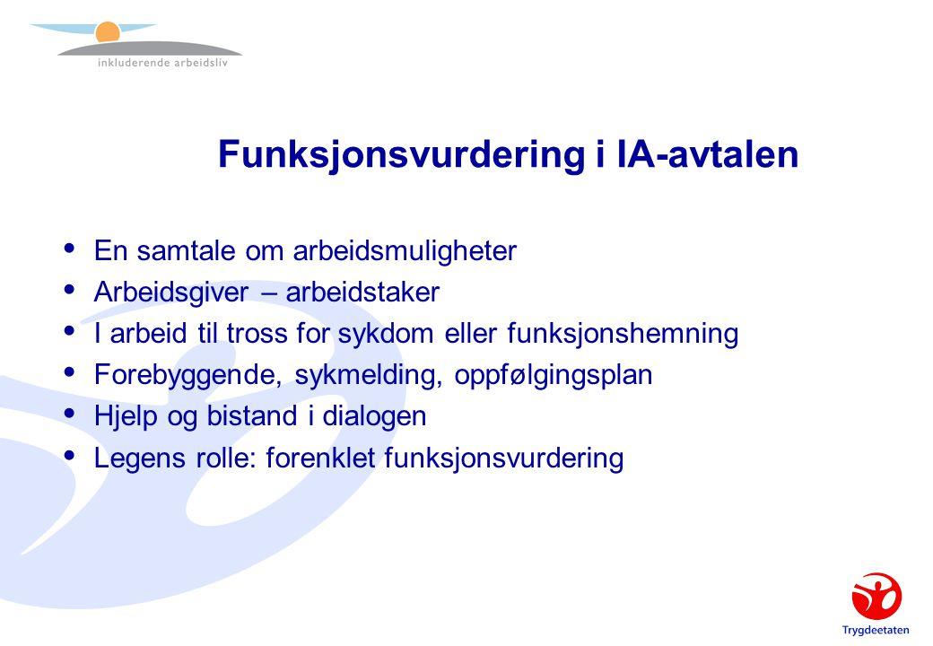 Funksjonsvurdering i IA-avtalen