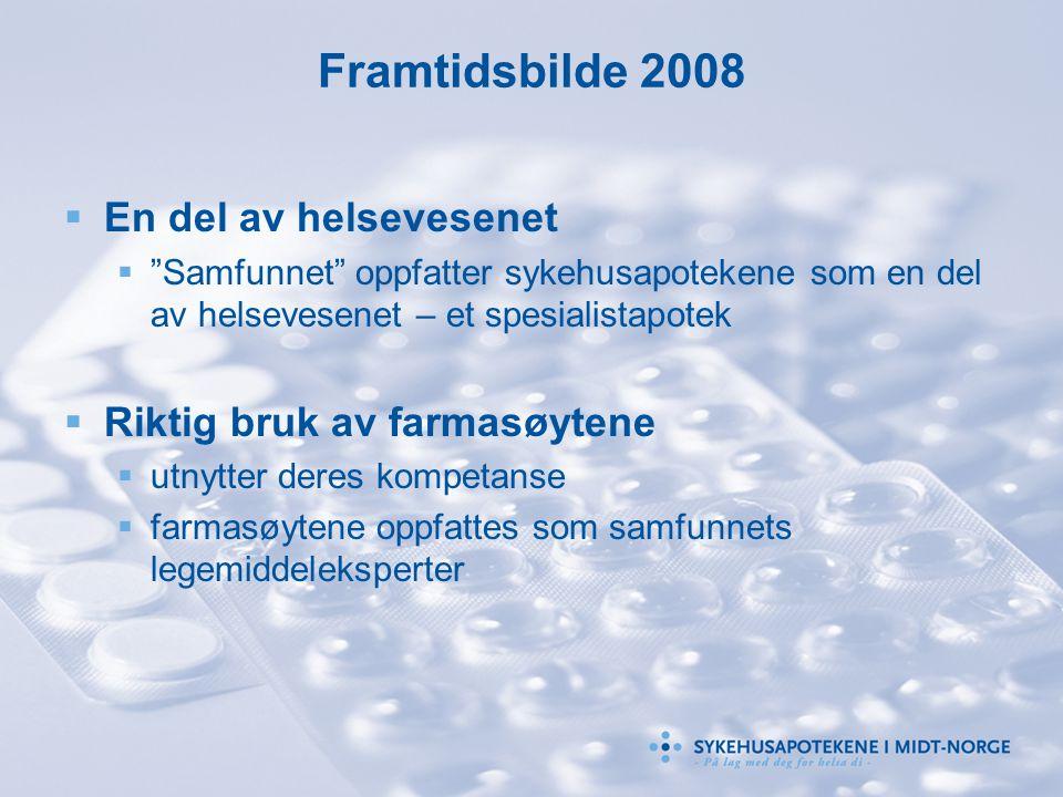 Framtidsbilde 2008 En del av helsevesenet Riktig bruk av farmasøytene