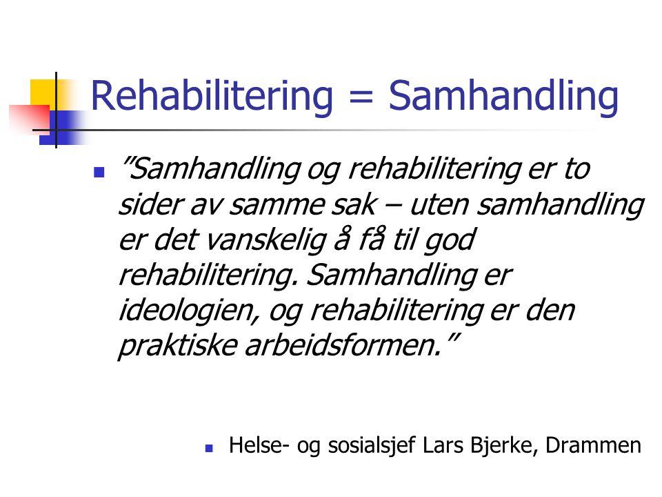 Rehabilitering = Samhandling
