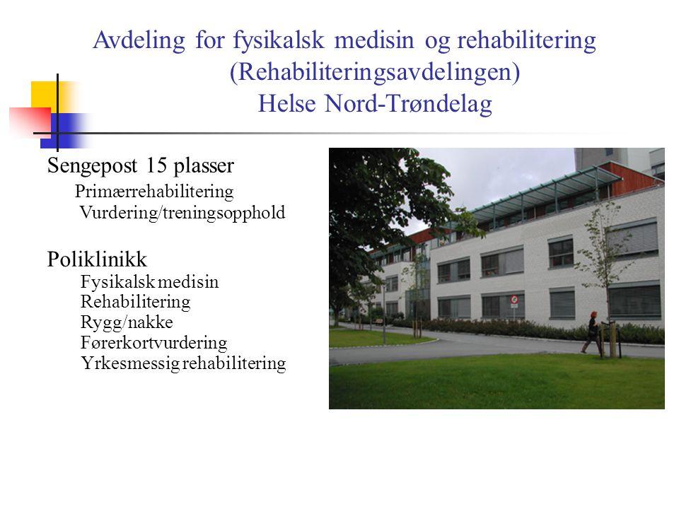 (Rehabiliteringsavdelingen)