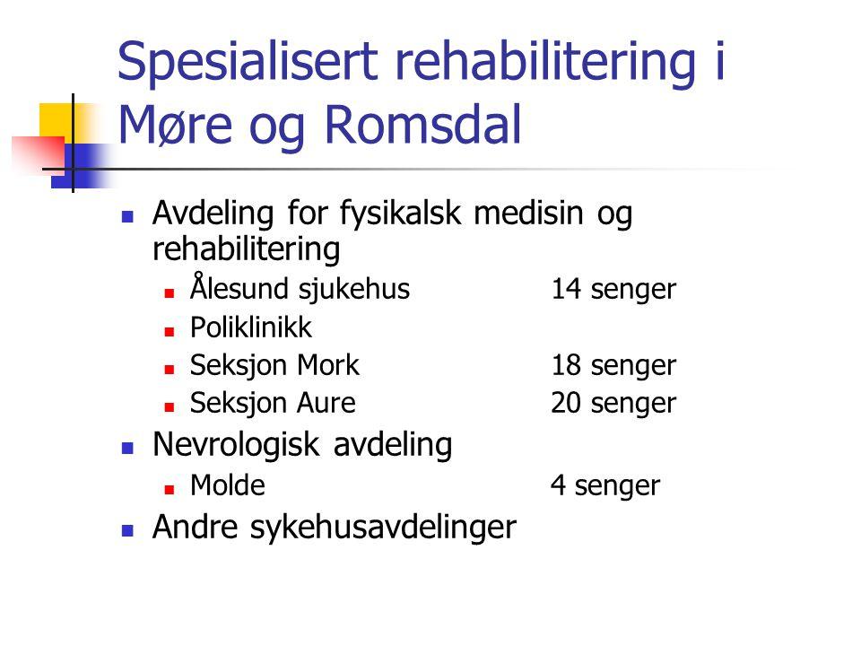 Spesialisert rehabilitering i Møre og Romsdal