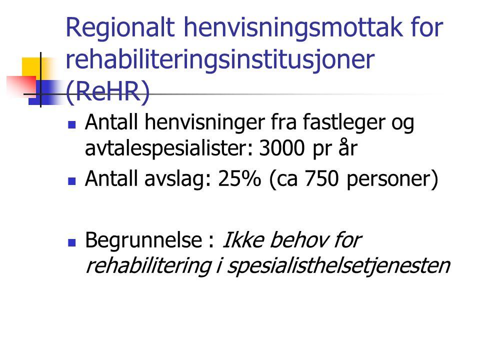 Regionalt henvisningsmottak for rehabiliteringsinstitusjoner (ReHR)