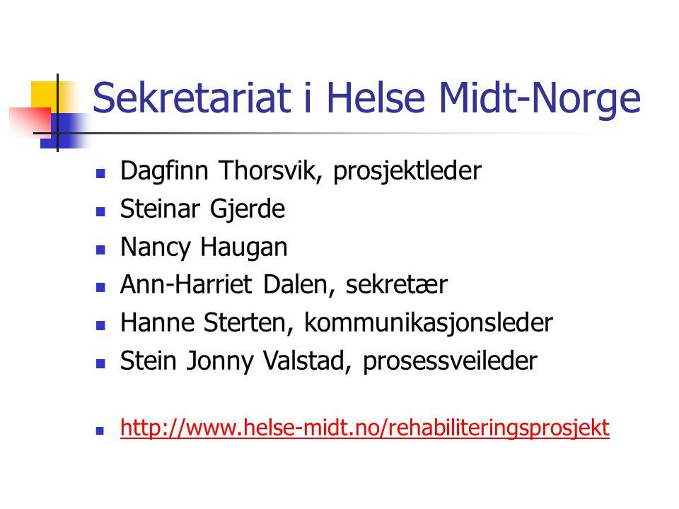 Sekretariat i Helse Midt-Norge