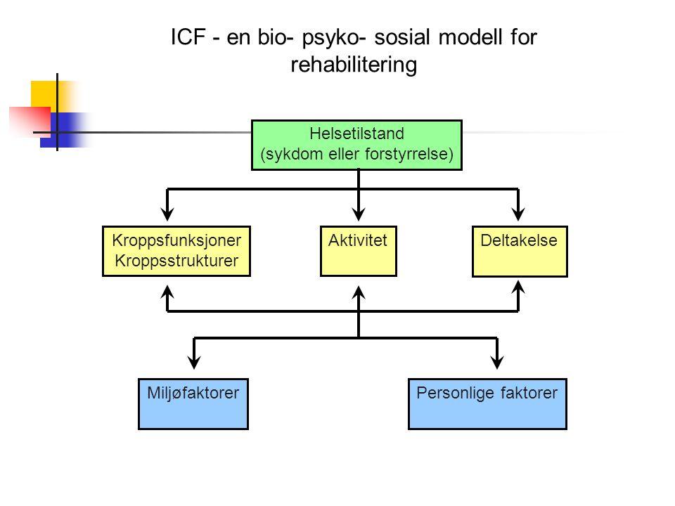 ICF - en bio- psyko- sosial modell for rehabilitering