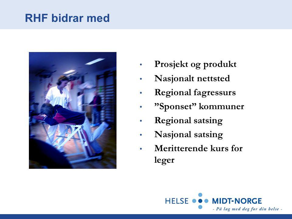 RHF bidrar med Prosjekt og produkt Nasjonalt nettsted