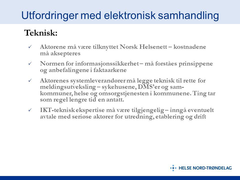 Utfordringer med elektronisk samhandling